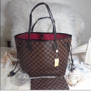 Louis Vuitton neverfull damier tote bag